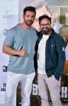 John Abraham and Nikkhil Advani during the press conference of their film    Batla House