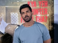 John Abraham during the press conference of his film    Batla House