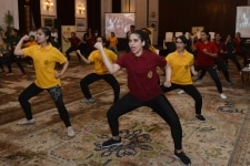 Participants during grand finale of self defence workshop