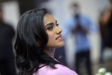P V Sindhu clicked during Junior Badminton Championship organized by PNB Metlife