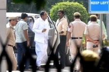 P Chidambaram clicked after being produced at Rouse Avenue court