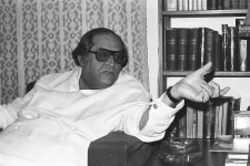 Indian architect  Piloo Mody clicked during a conversation