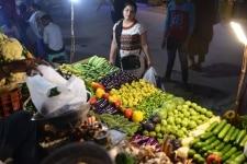Vegetable vendor in New Delhi