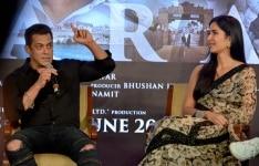 Salman Khan and Katrina Kaif during the song launching of    Zinda    from their film    Bharat'