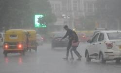 Rain in New Delhi