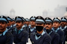 Air Force officers during Republic Day parade practice