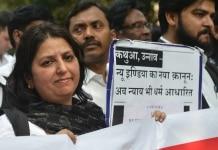 Protest against Kathua rape case