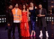 Kareena Kapoor  Diljit Dosanjh  Raftaar and Kriti Sanon during promotions of film    Arjun Patiala