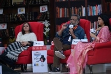 Vani Tripathi and Anubhav Sinha at Sahitya AajTak 2018