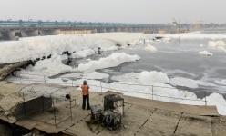 POLLUTED YAMUNA RIVER IN DELHI