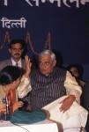 Uma Bharati and Atal Bihari Vajpayee at a party event