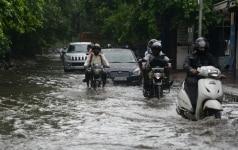 Waterlogged Streets in Delhi