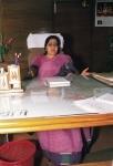 SWARAJ SUSHMA SITTING IN HER OFFICE DESK