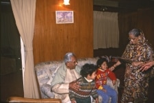 JS VERMA WITH WIFE AND GRANDCHILDREN AT HIS HOME