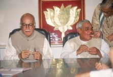 Atal Bihari Vajpayee with LK Advani