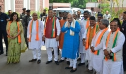 Amit Shah during the party meet in New Delhi