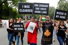 Kashmiri Youth Movement raise slogans