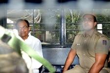 P Chidambaram being taken to Tihar jail