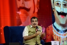 Nitin Gadkari clicked during his session at the India Today Conclave Mumbai