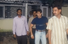 Salman Khan  Actor in Hindi Films with his bodyguards