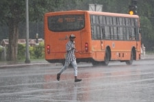 Heavy rain hit parts of Delhi