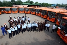 Delhi government flags off 1000 buses with new features