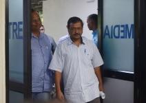 Arvind Kejriwal at a press meet