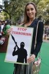 Belgium models protesting against terrorism