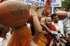 BJP protests against water crisis