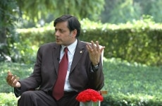 Shashi Tharoor during an interview