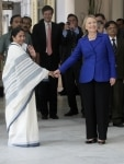 Hillary Clinton with Mamata Banerjee