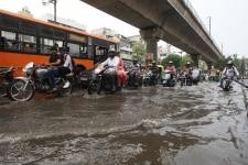 Waterlogging due to rainfall in New Delhi