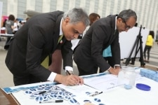 New York  United Nations  UN  Ambassador Syed Akbaruddin during World Environment Day celebrations held at UN headquarter in New York on June 5  2018  Photo  Mohammed Jaffer IANS