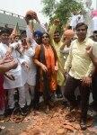 New Delhi  BJP workers stage a protest on Delhis water crisis at Delhi secretariat in New Delhi on June 16  2018  Photo  IANS