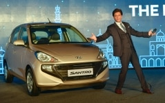 Shahrukh Khan during the launch of Hyundai Santro
