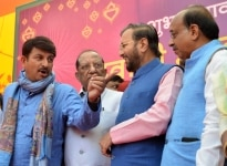 Member of the Lok Sabha  Manoj Tiwari and Minister of Environment  Forest and Climate Change  Prakash Javadekar