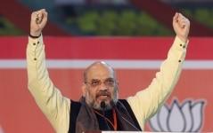 Amit Shah addresses public during BJP Booth Sameelan