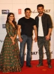Zaheer Iqbal and Pranutan Bahl with mentor Salman Khan
