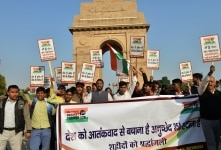 Protest against article 35A