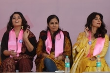 Richa Chadda and Chitrangada Singh at Dignity March