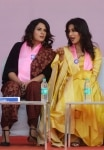 Richa Chadda and Chitrangada Singh during Dignity March