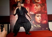 Varun Dhawan during the launch of song    First Class