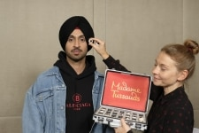 Mumbai  Actor singer Diljit Dosanjh during a session where he gave measurements to Madame Tussauds expert artists for the sitting for his figure  in Mumbai on July 15  2018 His wax statue is all set to join the figures of other icons at Madame Tussa