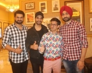 New Delhi  Actor Angad Bedi  cricket commentator Gautam Bhimani and former Hockey player Sandeep Singh along with his elder brother Bikramjeet Singh at the special screening of film  Soorma  in New Delhi on July 19  2018  Photo  Bidesh Manna IANS