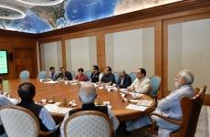New Delhi  Prime Minister Narendra Modi reviews the preparations for launch of Health Assurance programme under Ayushman Bharat in New Delhi on Aug 4  2018  Photo  IANS PIB
