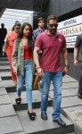 Mumbai  Actor Ajay Devgn along with his daughter Nysa Devgn seen at a restaurant in Bandra  Mumbai on Aug 7  2018  Photo  IANS