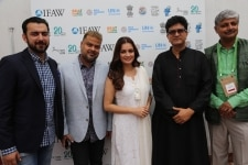 New Delhi  Actress and Wildlife Trust of India  WTI  Brand Ambassador Dia Mirza  Central Board of Film Certification  CBFC  Chairman Prasoon Joshi and other dignitaries at the inaugural programme of Gaj Mahotasav organised on the occasion of World