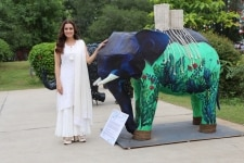 New Delhi  Actress and Wildlife Trust of India  WTI  Brand Ambassador Dia Mirza at the inaugural programme of Gaj Mahotasav organised on the occasion of World Elephant Day  in New Delhi on Aug 12  2018  Photo  Amlan Paliwal IANS
