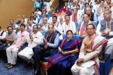 New Delhi  BJP leaders Shivraj Singh Chouhan  Sushma Swaraj  Jai Ram Thakur  Raghubar Das  Manoj Tiwari  Harsh Vardhan  Radha Mohan Singh  Jitendra Singh  Narendra Singh Tomar  Dharmendra Pradhan  S S Ahluwalia  Kiren Rijiju  Shahnawaz Hussain  Anu