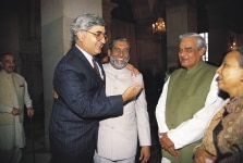 ATAL BIHARI VAJPAYEE, SALMAN KHURSHEED AND OTHERS  AT IFTAR PARTY IN PRESIDENT HOUSE